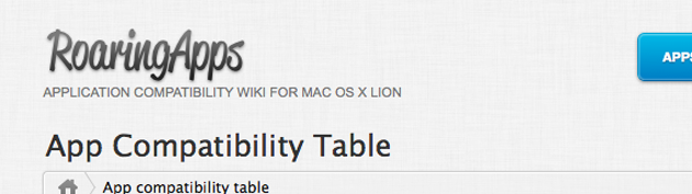 App Compatibility Table 1 630
