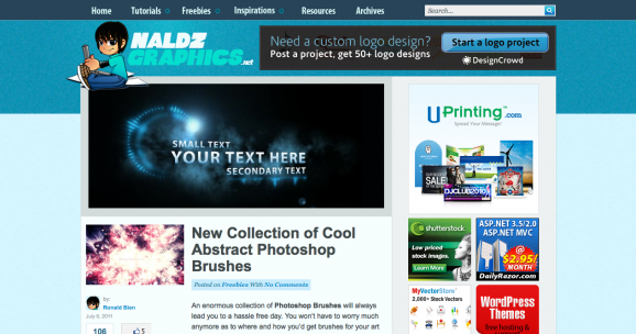 Web nanomal for Naldz graphics