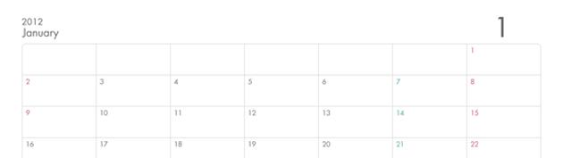 Simple Calendar 1 630