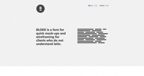 BLOKK font 2