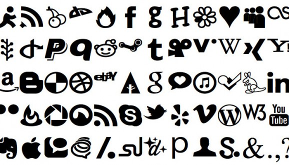 JustVector Social Icons Font