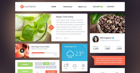 Flattastic UI kit