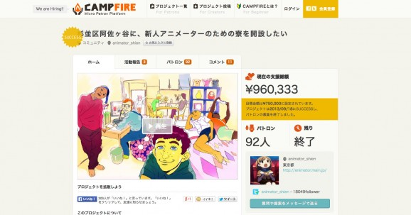 Japan Crowd Funding Project Ranking 11