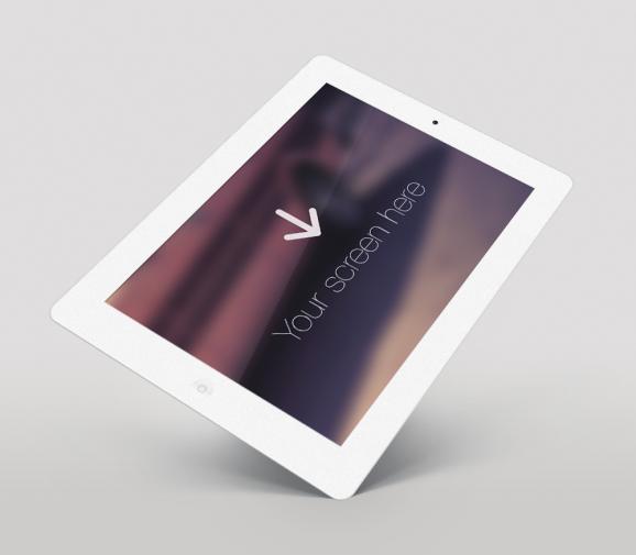 Free iPad White Angle PSD
