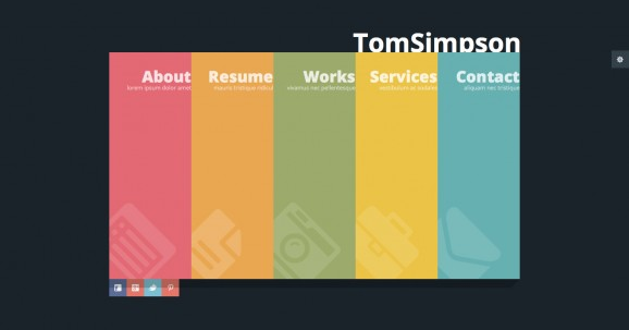 Personal vCard One Page Template