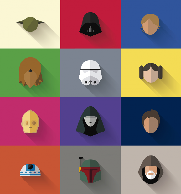 Star Wars Flat Design Icons 2