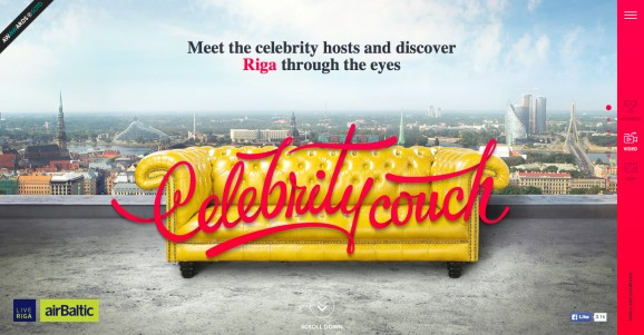 Riga Celebrity Couch